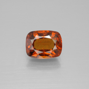 2.8ct Cushion-Cut Amber Orange Hessonite Garnet Gem (ID: 395352)