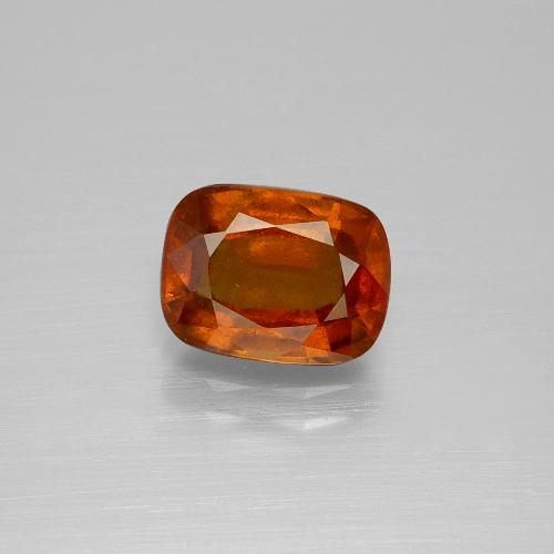 2.7ct Cushion-Cut Medium Orange Hessonite Garnet Gem (ID: 395355)