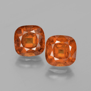 2.7ct Cushion-Cut Deep Orange Hessonite Garnet Gem (ID: 395548)