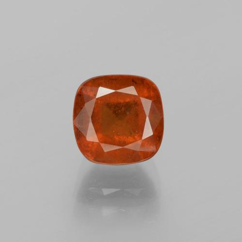 2.9ct Cushion-Cut Warm Orange Hessonite Garnet Gem (ID: 395550)