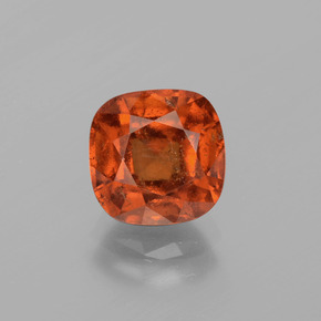 3ct Cushion-Cut Medium Orange Hessonite Garnet Gem (ID: 395552)