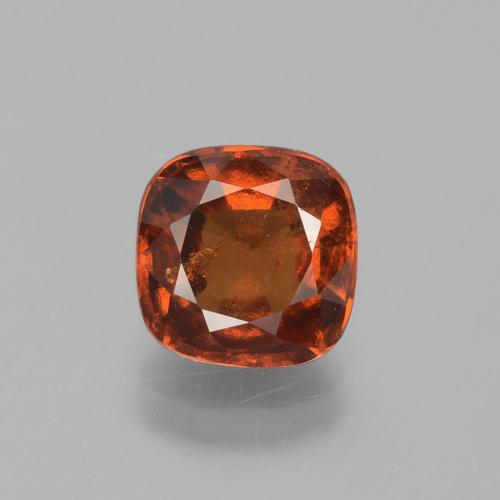 2.5ct Cushion-Cut Dark Orange Hessonite Garnet Gem (ID: 395821)