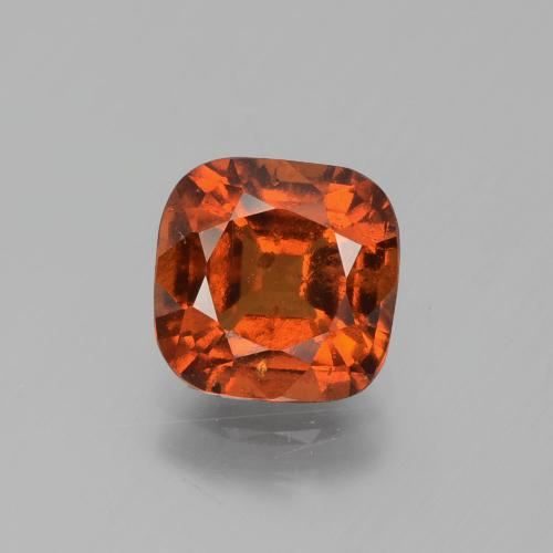 2.4ct Cushion-Cut Deep Orange Hessonite Garnet Gem (ID: 395824)
