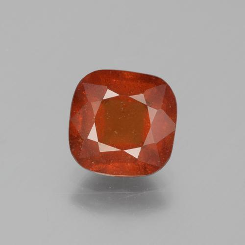 2.3ct Cushion-Cut Fire Orange Hessonite Garnet Gem (ID: 395825)