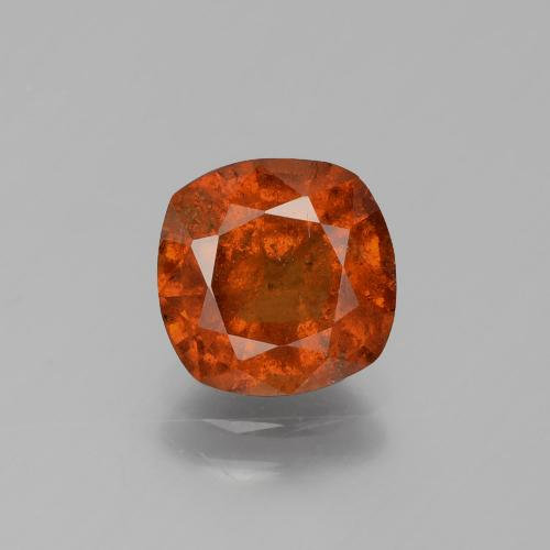 2.3ct Cushion-Cut Reddish Orange Hessonite Garnet Gem (ID: 395826)