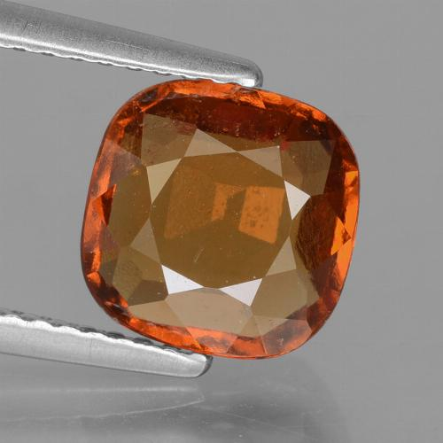 2.4ct Cushion-Cut Medium Orange Hessonite Garnet Gem (ID: 395827)
