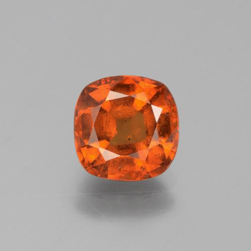2.2ct Cushion-Cut Fire Orange Hessonite Garnet Gem (ID: 395828)