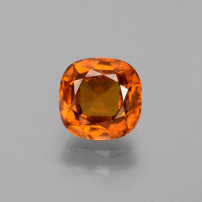 2.1ct Cushion-Cut Cinnamon Orange Hessonite Garnet Gem (ID: 395942)