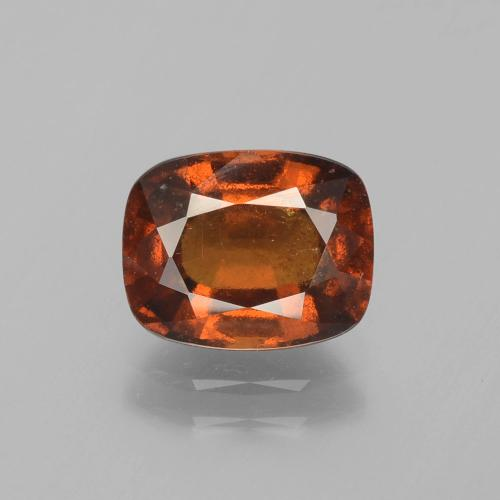 2.7ct Cushion-Cut Deep Orange Hessonite Garnet Gem (ID: 395943)