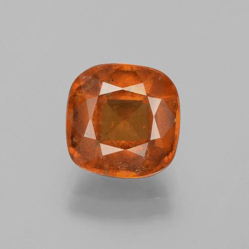 2.9ct Cushion-Cut Deep Orange Hessonite Garnet Gem (ID: 395944)