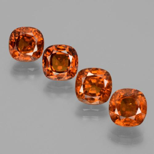 1.9ct Cushion-Cut Cinnamon Orange Hessonite Garnet Gem (ID: 396000)