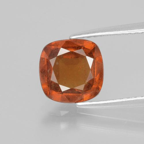2ct Cushion-Cut Fire Orange Hessonite Garnet Gem (ID: 398830)
