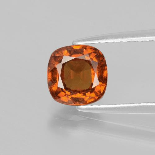 1.8ct Cushion-Cut Medium-Dark Orange Hessonite Garnet Gem (ID: 398831)