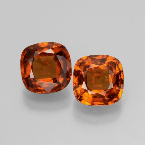 Fire Orange Granate Hesonita Gema - 1.8ct Corte en Forma Cojín (ID: 398832)