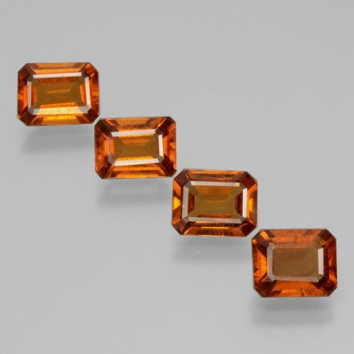 Deep Orange Hessonite Garnet Gem - 1.3ct Octagon Facet (ID: 398834)