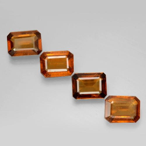 Cinnamon Orange Hessonite Garnet Gem - 1.5ct Octagon Facet (ID: 398836)