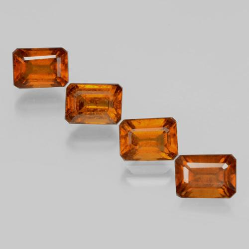 Medium Orange Hessonite Garnet Gem - 1.4ct Octagon Facet (ID: 398839)