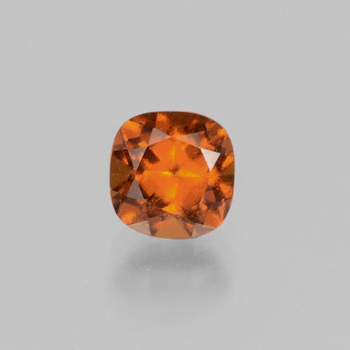 1.5ct Cushion-Cut Deep Orange Hessonite Garnet Gem (ID: 398875)