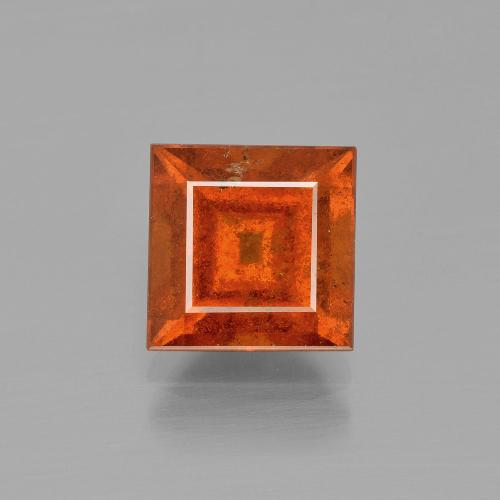 thumb image of 3ct Square Facet Cinnamon Orange Hessonite Garnet (ID: 400527)