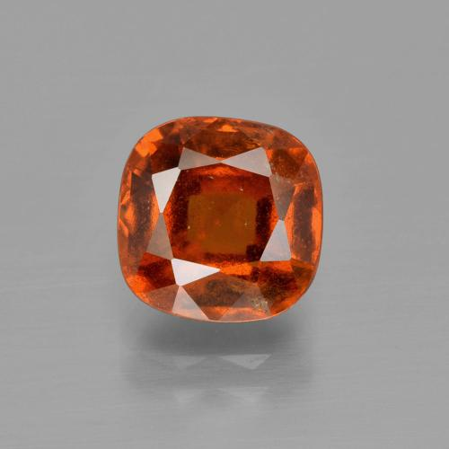 3.2ct Cushion-Cut Deep Orange Hessonite Garnet Gem (ID: 400532)