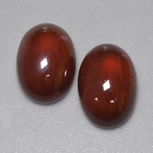 Medium-Dark Brown Hessonite Garnet Gem - 5ct Oval Cabochon (ID: 428178)