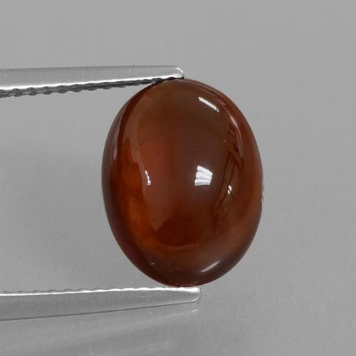Orange Hessonite Garnet Gem - 5.4ct Oval Cabochon (ID: 428463)