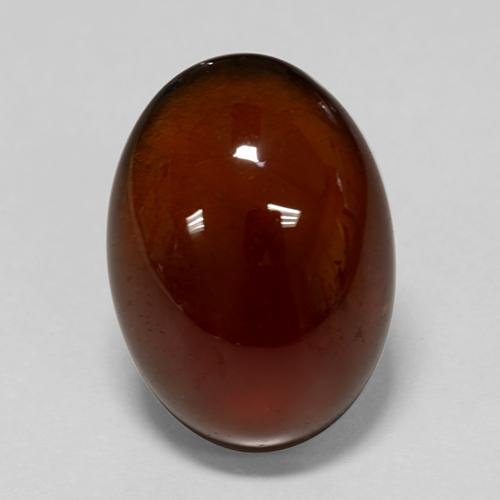 Orange Hessonite Garnet Gem - 5.4ct Oval Cabochon (ID: 428470)