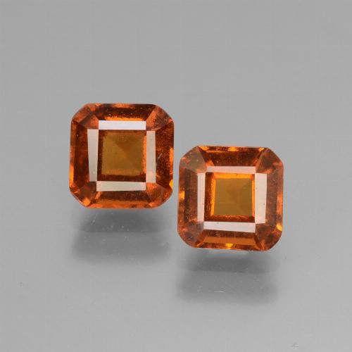 Cinnamon Orange Hessonite Garnet Gem - 1.4ct Octagon Facet (ID: 431069)