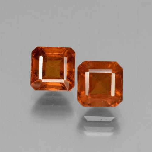1.6ct Octagon Facet Cinnamon Orange Hessonite Garnet Gem (ID: 431070)
