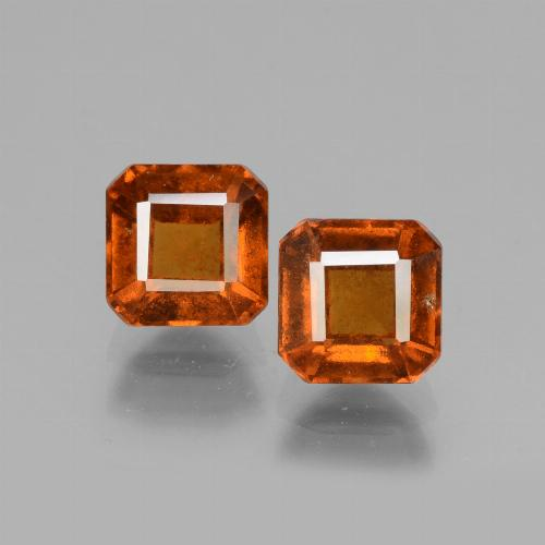 Cinnamon Orange Hessonite Garnet Gem - 1.6ct Octagon Facet (ID: 431073)
