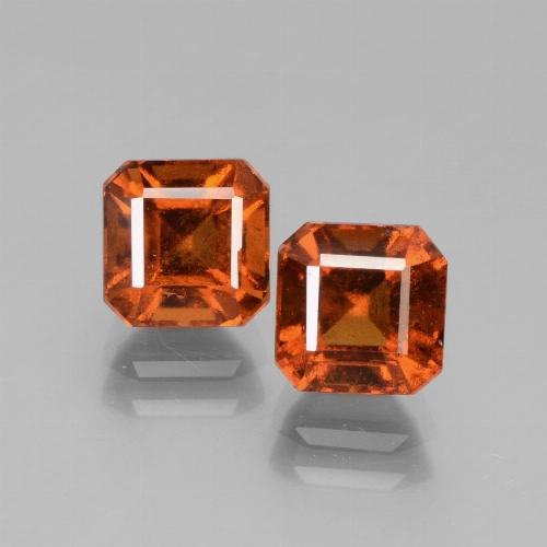 Cinnamon Orange Hessonite Garnet Gem - 1.7ct Octagon Facet (ID: 431235)