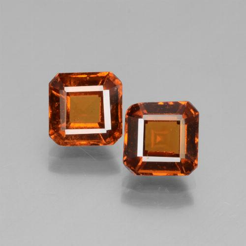 Cinnamon Orange Hessonite Garnet Gem - 1.4ct Octagon Facet (ID: 431236)