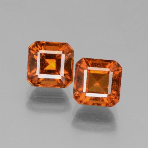 Deep Orange Hessonite Garnet Gem - 1.7ct Octagon Facet (ID: 431242)