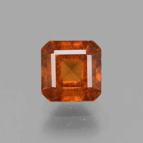 Medium Orange Hessonite Garnet Gem - 1.8ct Octagon Facet (ID: 431310)