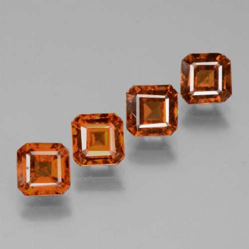 0.8ct Octagon Facet Cinnamon Orange Hessonite Garnet Gem (ID: 431448)