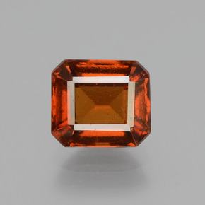 Cinnamon Orange Hessonite Garnet Gem - 2.3ct Octagon Facet (ID: 431526)
