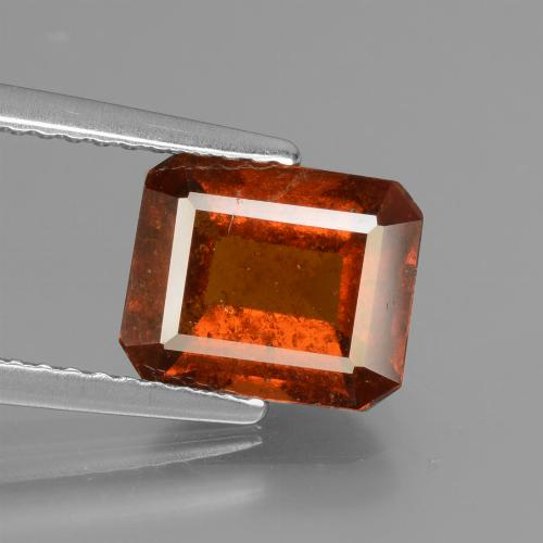 2.5ct Octagon Facet Cinnamon Orange Hessonite Garnet Gem (ID: 431527)