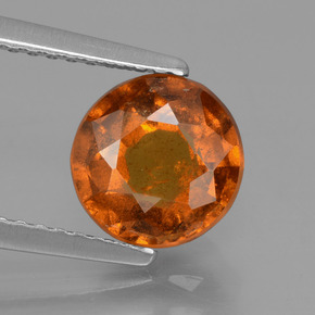 Medium-Dark Orange Granate Hesonita Gema - 1.9ct Faceta Redonda (ID: 432810)