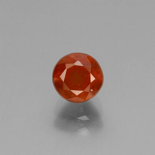 1.4ct Round Facet Cinnamon Orange Hessonite Garnet Gem (ID: 432960)