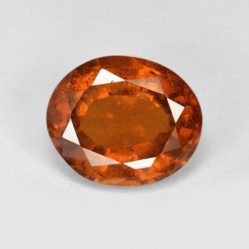 Deep Orange Hessonite Garnet Gem - 2.5ct Oval Facet (ID: 497074)