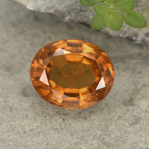 Medium-Dark Orange Granato essonite Gem - 1.8ct Ovale sfaccettato (ID: 497585)