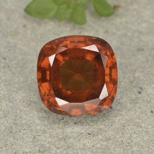 1.9ct Cushion-Cut Amber Orange Hessonite Garnet Gem (ID: 499226)