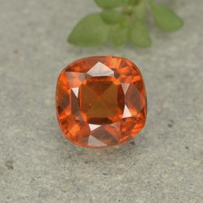 1.9ct Cushion-Cut Amber Orange Hessonite Garnet Gem (ID: 499227)