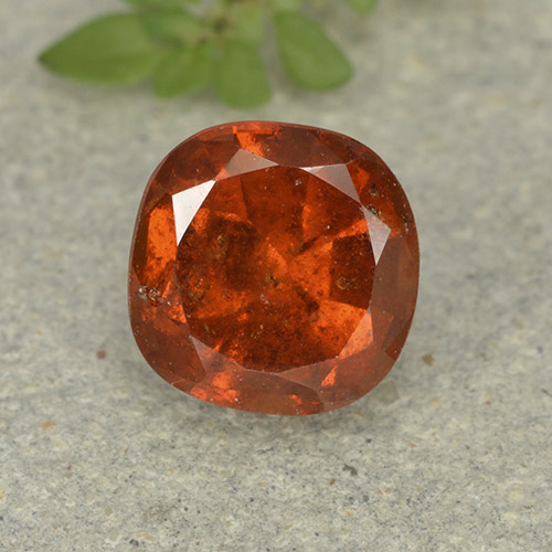 1.9ct Cushion-Cut Reddish Orange Hessonite Garnet Gem (ID: 499232)