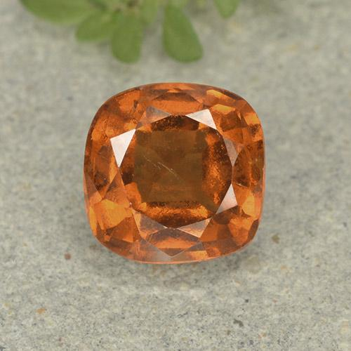 1.8ct Cushion-Cut Deep Orange Hessonite Garnet Gem (ID: 499238)