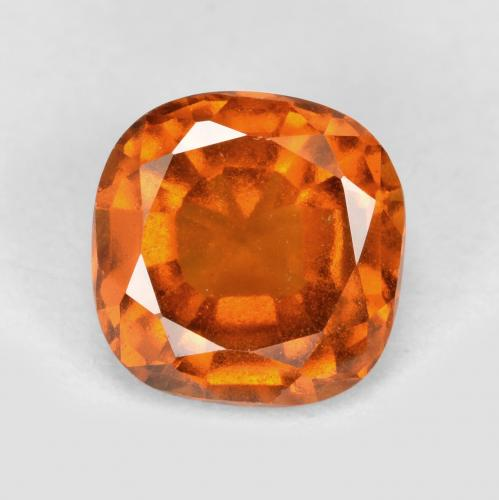 1.8ct Cushion-Cut Deep Orange Hessonite Garnet Gem (ID: 499239)