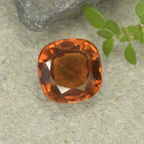 1.8ct Cushion-Cut Reddish Orange Hessonite Garnet Gem (ID: 499246)
