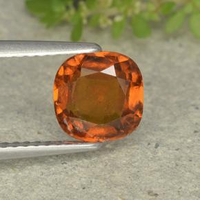 1.7ct Cushion-Cut Deep Orange Hessonite Garnet Gem (ID: 499248)