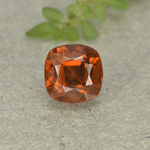 1.9ct Cushion-Cut Medium Orange Hessonite Garnet Gem (ID: 499249)