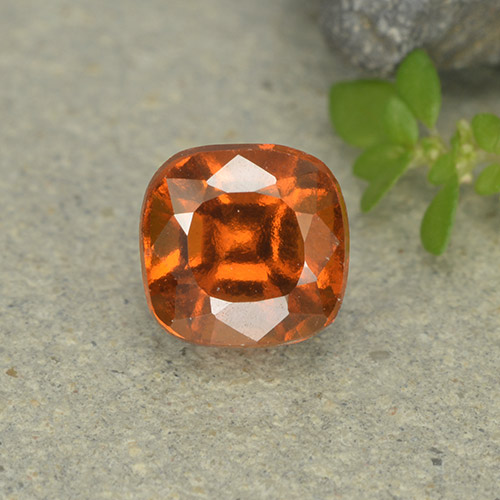 1.7ct Cushion-Cut Yellowish Orange Hessonite Garnet Gem (ID: 499251)